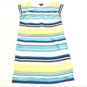 TOMMY HILFIGER Blue And Yellow Striped Dress